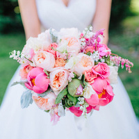 Pretty Pink and Peach Bouquet