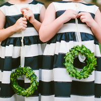 Boxwood Flower Girl Wreaths