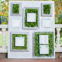 Seating Chart with Greenery