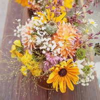Orange and Yellow Centerpiece