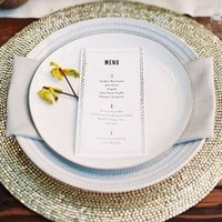 Metallic Charger Place Setting