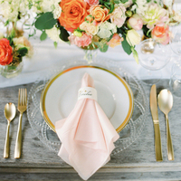 Gold and Blush Place Setting