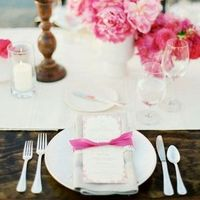 Pink Bow Place Setting