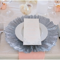 Grey and Pink Place Setting