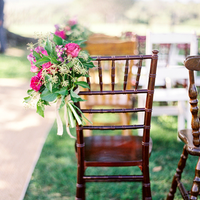 Fuchsia and Green Aisle Marker
