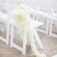 All White Floral Aisle Marker