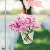 Pink Geranium Aisle Marker