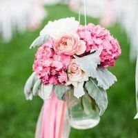 Pink and Green Aisle Marker
