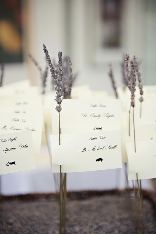 Lavender Escort Cards