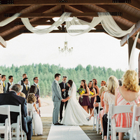 Lakeside Ceremony Decor
