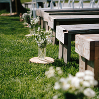 Rustic Aisle Markers