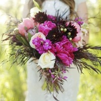Burgundy and Magenta Bouquet