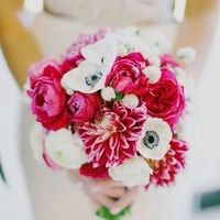 Fuchsia and White Bouquet