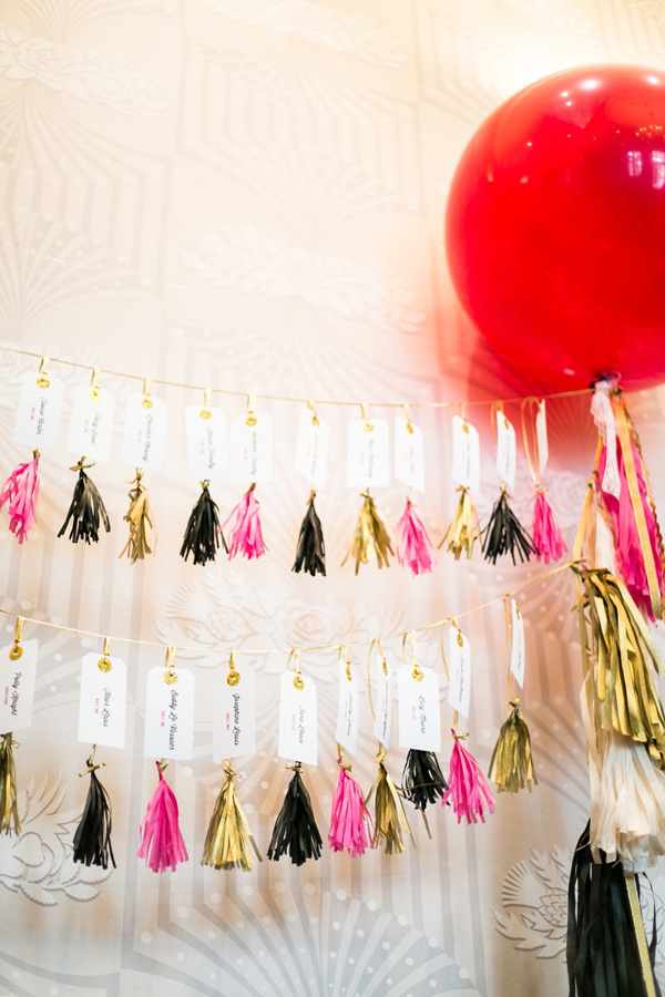 Tissue Tassel Escort Card Display