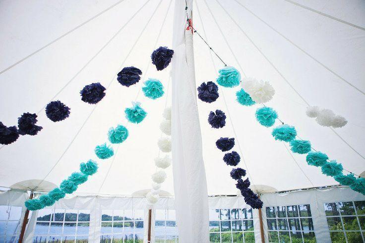 Tissue Pom Tent Ceiling