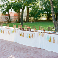 Tissue Garland Table Decor