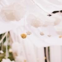 Hanging Crepe Paper Flowers