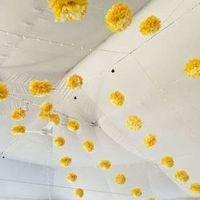 Yellow Tissue Pom Garland