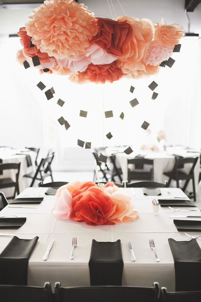 Floating Crepe Paper Centerpiece