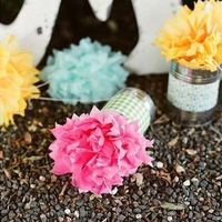 Potted Tissue Paper Centerpieces