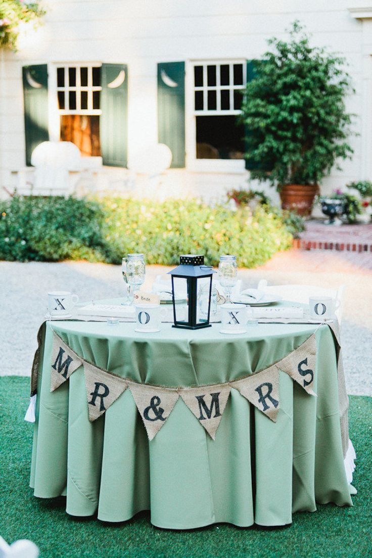 Burlap Sweetheart Table Banner