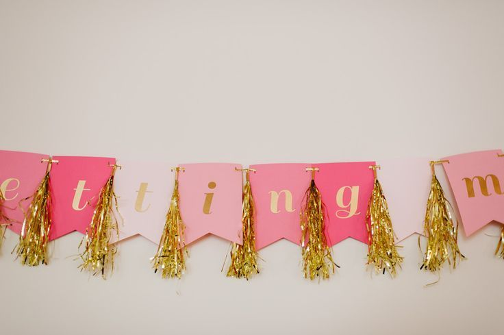 Glam Tinsel Banner