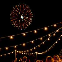 Fireworks and Cafe Lights