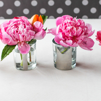 DIY: Mini Monogrammed Mirrored Vases