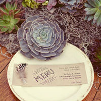 Rustic Succulent Place Setting