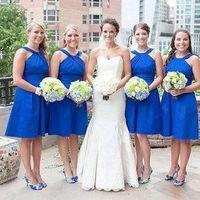 Royal Blue Halter Dresses