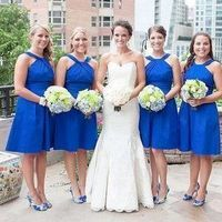 Royal Blue Halter Dresses