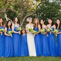 Flowing Royal Blue Bridesmaid Dresses