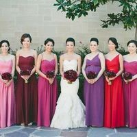 Berry Fusion Floor-Length Dresses