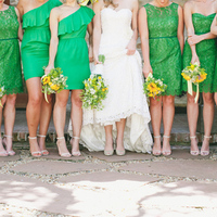 Green Short Bridesmaid Dresses