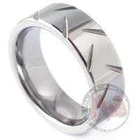 Chopper Tungsten Wedding Rings for Men