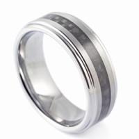 Carbon Muncher Tungsten Rings for Men