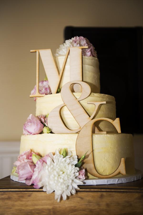 Monogrammed Cake