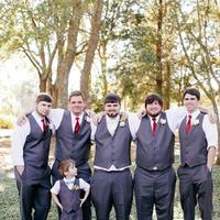 Groomsmen in Gray