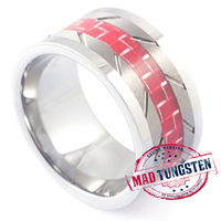 RED FIBRE TUNGSTEN RING