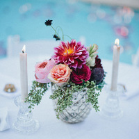 Peach and Raspberry Centerpiece