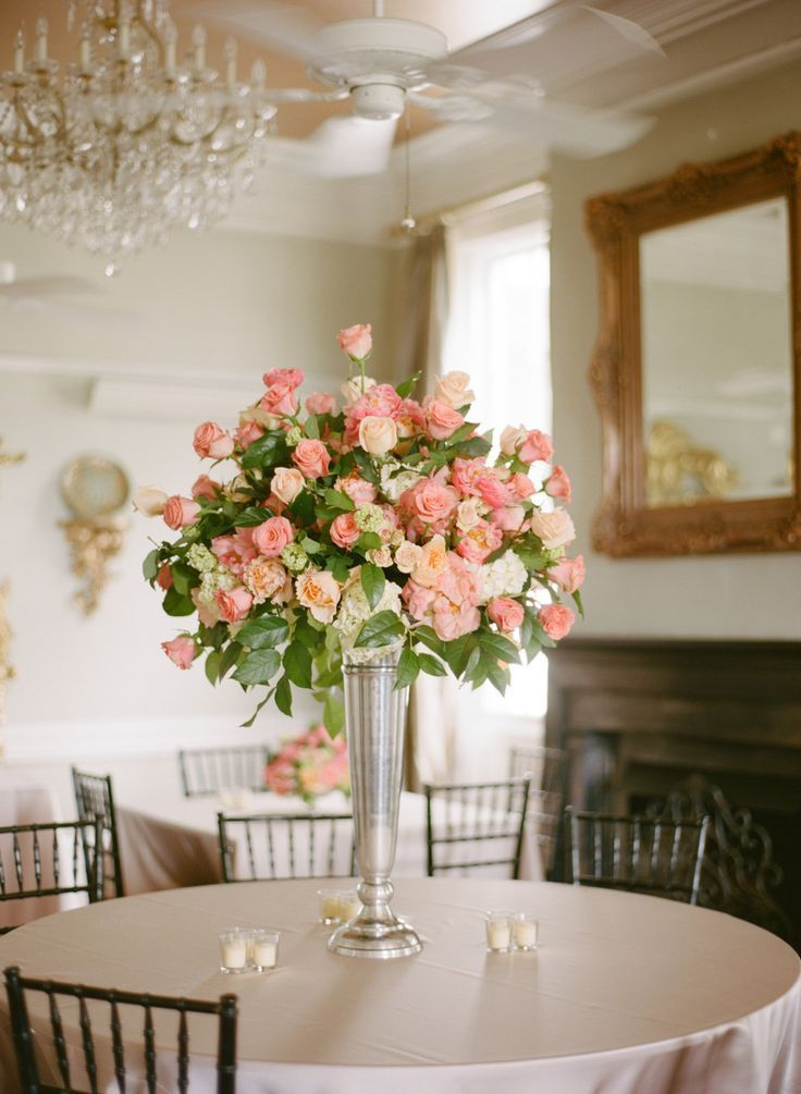 Preppy Pink Rose Centerpiece