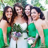 Bridesmaids in Green