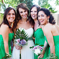 Bridesmaids in Green