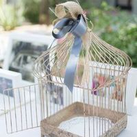 Vintage Bird Cage Card Box