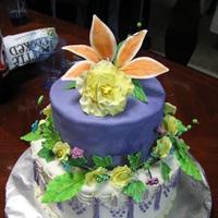 Flower Vine Anniversary Cake