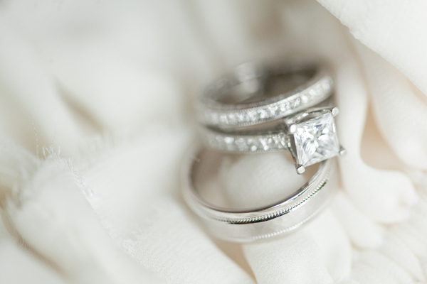Jewelry, Real Weddings, Rings, Elegant, Engagement ring, Sophisticated, square cut diamond, Wisconsin Real Weddings, wisconsin weddings