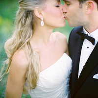 Beauty, Jewelry, Real Weddings, Earrings, Half-up, Fair Complexion, Portrait, Elegant, Tuxedo, Black-tie, Sophisticated, Wisconsin Real Weddings, wisconsin weddings