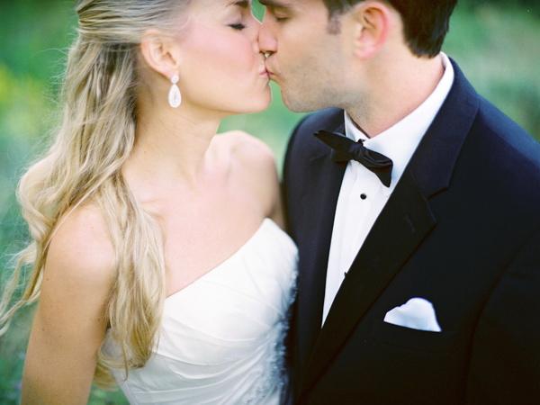 Beauty, Jewelry, Real Weddings, Earrings, Half-up, Fair Complexion, Portrait, Elegant, Tuxedo, Black-tie, Sophisticated, Wisconsin Real Weddings, wisconsin weddings