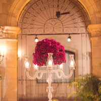 Reception, Flowers & Decor, Decor, Real Weddings, Wedding Style, Centerpieces, Lighting, Candles, Glam Weddings, Romantic, Glamorous, Candelabra, Old hollywood, Red roses, Décor, Jessica Lorren Organic Photography, florida real weddings, florida weddings