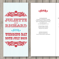 Paperchain wedding stationery